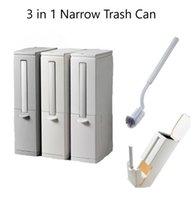 3 em 1 lata de lixo estreito com pincel de vaso sanitário conjunto de lixo de lixo de lixo lavatório de cozinha