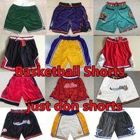 Pantalones cortos de baloncesto de JA Morant Wayback Simplemente haga Wade Haraway Iverson Carter Pockets Mitchell Ness Basketball Shorts Pantalones de Baloncesto