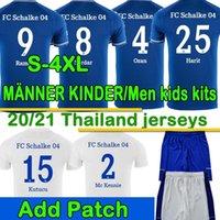 3XL 4XL FC Schalke 04 Jersey di calcio Kucucu Uth Hoppe Huntelaar 2020 2021 Schalke Jerseys Bentaleb Raman Skrzybski Men Camicia da calcio