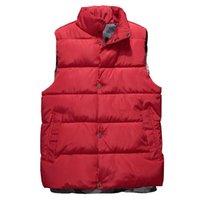 Men's Vests Mens Winter Sleeveless Jacket Men Down Vest Warm Thick Coats Male Cotton-Padded Work Waistcoat Gilet Homme 5XL