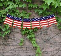 USA Swallowtail Banner Independence Day Saite Flaggen USA Buchstaben Bunting Banner 4. von Juli Party Dekoration CCF5030