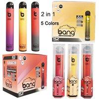 새로운 Bang Max Pro 스위치 일회용 vape 펜 2 in 1 장치 7ml 포드 2000 퍼프 스 뱅 Xxtra Vape Kit