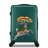 Bavullar Bagaj Bavul 24 Inç ABS + PC Seyahat Arabası 20 '' Kadınlar için Rolling Cabin Trolly Çanta Taşıma Kadın Tekerlekler