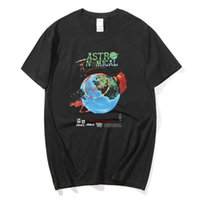 Лето Новые Мужские и Женские Футболка с короткими рукавами Трэвис Скотт Кактус Джек Astroworld Футболка Astro World Hip-Hop Tee X0621