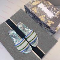 باريس المرأة شبشب ديار الشرائح amaranth المطرزة القطن الصيف شاطئ الصنادل أزياء أحذية في الهواء الطلق الشرائح الصنادل نوعية جيدة مع مربع