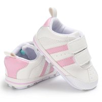 First Walkers Born Baby Boy Girl Crib Shoes Faux Leather Infant Toddler Pre Walker Sneakers