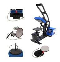 Impressoras i-transferir 5 em 1 tampa de combinação, caneca, placa, caneta logo máquina de imprensa de calor LCD impressora de controlador de tela de toque HPM-45A