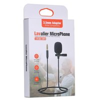 الميكروفونات lavalier ميكروفون المهنية الكاميرا المحمول مع 2M الصوت تمديد كابل 3.5 ملليمتر محول للفيديو بلوق التلبيب ميكروفون