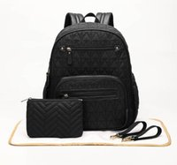 Diaper Bags Baby Stuff Travel Nappy Bag Backpack +Changing Pad+Stroller Straps+Makeup Pounch