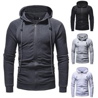 Men's Jackets Men High Quality Solid Color Coat Slim Zipper Hooded Tether Jacket Top Simple Outdoor Daily Tops Fast Casaco Masculino