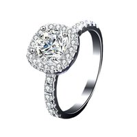 Choucong Promise Ring 925 스털링 실버 쿠션 컷 3CT 다이아몬드 약혼 웨딩 밴드 링 여성용 남성 보석