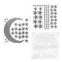 Wall Stickers 3 Sheets DIY Moon And Stars Decals Decorations Murals