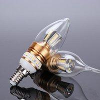 Ampuller EST E14 LED Mum Lambası 10 W 12W Cam Ampul Işık 220V Yukarı ve Aşağı Işık Yayan Kristal Avize Kaynağı Kaynağı