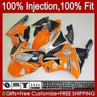 Injection mold Bodys For KAWASAKI NINJA ZX-12R ZX1200 C ZX 12 R 1200 CC ZX12R 00 01 Bodywork 2No.38 ZX 1200 12R 1200CC 00-01 ZX1200C 2000 2001 OEM Fairing Kit orange black