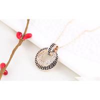 18kgp Kristall Halskette Ohrringe Sets Antike Muster Weibliche Schmucksets Für Frauen Neues Jahr Beste Geschenke 82F204 AGU43