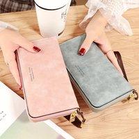 Wallets 2021 Fashion Zipper Leather Women's Wallet Retro Ladies Purse Designer Women Long Card Holder Female Clutch Bag Carteira