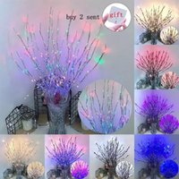 Novelty Lighting LED Tree Branch Light Vase Floral Willow 20 LEDs String Lights Night Lamp Home Indoor Bedroom Christmas Birthday Party Deco