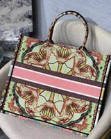 2020 neue damen große kapazität handtaschen paris designer handtaschen mode retro ethnische stil leinwand handgemachte stickerei muster einkaufstasche