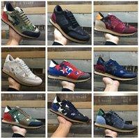 Caldi nuove donne e uomini scarpe casual camouflage in vera pelle pizzo in pizzo di coppia scarpe unisex ribattini stivali sportivi piatti