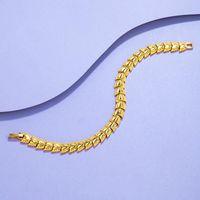 Charm Bracelets Fashion Heart-shaped Jewelry Yellow Gold Filled Womens Temperament Chain Bracelet Beautiful Gift