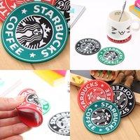실리콘 코스터 컵 Thermo 쿠션 홀더 Starbucks Sea-Haid 커피 코스터 컵 매트 테이블 장식 5 S2