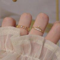 Gioielli delicati 14K Real Gold Gold Regolabile Piercing Heart Crystal Anelli per le donne Simple Style Style Cubic Zircon Anelli corona