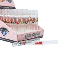 Lady Hornet Стеклянная сигаретная труба 104 мм розовый курить один нападающий воды нефтяные трубы бонг оптом