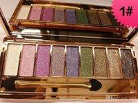Top Quality Shadow 9 Colors Diamond Bright Glitter Eye Makeup Eyeshadow Nudo Palette fumosa make up set
