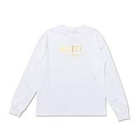 Tanrı Moda Üst Erkek Mektup Boyama Uzun Sleevesese Tee Üst Erkekler Bayan Sonbahar Tasarımcısı Tshirt Rahat Streetwear Gömlek Adam Giyim