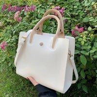 Evening Bags Large Capacity Top-handle 2021 Leather Crossbody Fashion Women Purses And Handbags Luxury Designer Sac A Main
