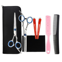 Hair Scissors 1 Set 10pcs Professional Haircut Tools Kit Cutting Supplies Barbershop Accessories For Home Barber Shop
