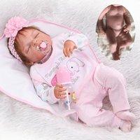 """22 """"/ 55cm Pasgeboren Volledige Lichaam Vinyl Siliconen Reborn Baby Dolls Handgemaakte Girl Doll Waterdichte Badgeschenken"""
