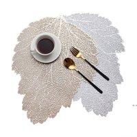 Tischsat Esstisch Untersetzer Blatt Simulationsanlage PVC Kaffeetasse Tisch Matten Hohlküche Weihnachten Wohnkultur Geschenke DHA3859