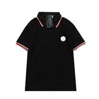 Polo Designer Shirts Summer Designer Designer di lusso Tshirt Mens Polo Stile Classic Bianco PACHWORK T-SHIRT T-shirt Casual Turn-Down Collar Tee