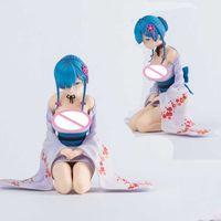 13cm Japanse Anime Re: Leben Eine andere Welt von Null REM RE0 Remu PVC Action Figure Spielzeugspiel Sammlerliche Modellpuppengeschenk Q0622