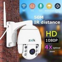 ZOOHI Kablosuz Kamera Açık PTZ IP Kamera Iki Yönlü Ses 1080 P Dönebilen Dome Survellance Güvenlik Kameraları CCTV WIFI 2MP IR1