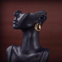 2021 Wholesale Designers Earring High Quality Luxurys Fashion Hoop Ear Studs Womens Gold Wedding Party Classic Letter F Earrings Diamond
