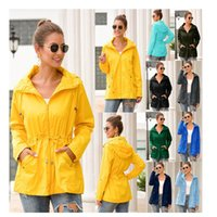 Autumn and winter new women's solid color mid-length hooded Coats large size S-5XL outdoor windproof mountaineering jacket