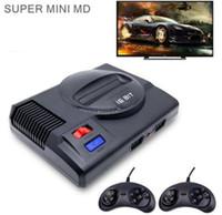 레트로 미니 TV 비디오 게임 콘솔을위한 Sega Megadrive 16 비트 8 비트 게임 691 다른 게임 2 Gamepads HD out