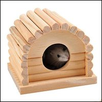 Small Home & Gardensmall Animal Supplies Cage Game Playground Fence Pet Hamster Squirrel Slee Nest Wooden Mini Mice Cabin Eout Drop Delivery