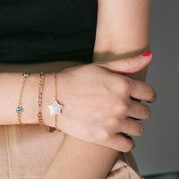 Charm Bracelets 3pcs set Blue Evil Eye Star Turkish For Women Handmade Gold Chains Lucky Jewelry Bracelet Woman 2021 Beads