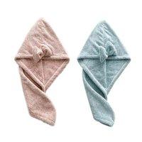 Towel Magic Bamboo Fiber Coral Velvet Hair Fast Drying Dryer Bath Wrap Hat Quick Cap Turban Dry Household Item Toiletries