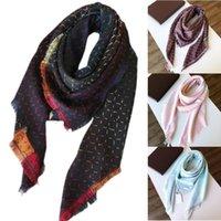 2021 G. Квадратный шарф негабаритные классические чековые шали шарфы для мужчин и женщин дизайнерские платки роскошные золотые серебряные нить плед г шали многоцветный размер 140 * 140