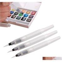 Diferente tamanho recarregável canetas lápis tinta tinta tinta macia escova aquarela escova de pintura pai jllxmg luta2010