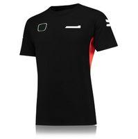 Yeni Araba Fan Takımı F1 Yarış Takım Elbise erkek Bahar Ve Yaz Yuvarlak Yaka Hızlı Kuruyan Tişört Baskı Harfleri Yarış Logosu Üst T-shirt