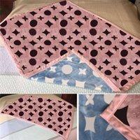 Trendy Designer doppelte Farbdecken klassisches Muster bedruckte Decke Home Schlafsofa-Bett Büroschal Dekoration 100 * 140 cm 150 * 200 cm