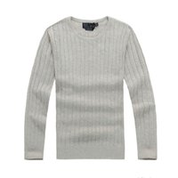 mens designer twist sweater small horse mile wile polo brand men's twist sweater knit cotton sweater jumper pullover high quality