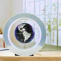 Türk 22 cm Çerçeve Yenilik Manyetik Levitasyon Yüzer Küre ile LED Işık Ev Dekorasyon Ofis Süsleme
