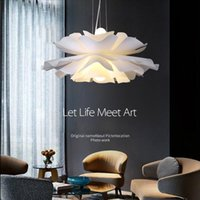 Creative petal lamp dining room pendant lamps simple livingroom personality designer girl bedroom light