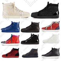 2021 con scatola di lusso mocassini da uomo scarpe casual da donna scarpe rosse bottom stylist scarpe con borchie insider sneakers moda sneakers punte high-top